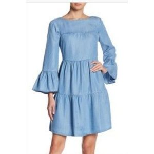 Beachlunchlounge Chambray Gianna Tiered Dress